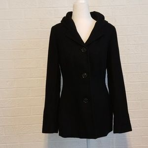 Women's Croft & Barrow hooded wool blend coat